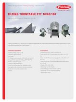 TILTING TURNTABLE FTT 10/40/150 - 1