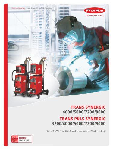 TransSynergic / TransPuls Synergic 3200 / 4000 / 5000 / 7200 / 9000
