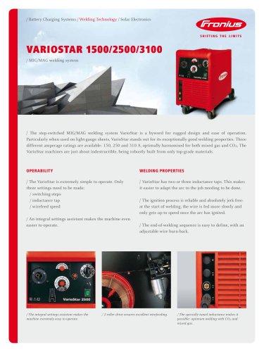 VarioStar 1500 / 2500 / 3100