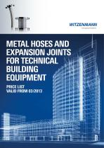 METAL HOSES AND EXPANSION JOINTS FOR TECHNICAL BUILDING EQUIPMENT