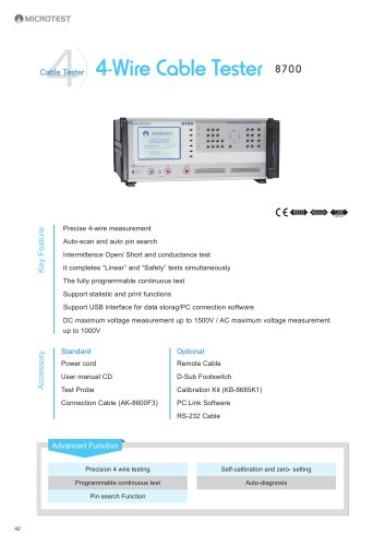 4-Wire Cable Tester_8700