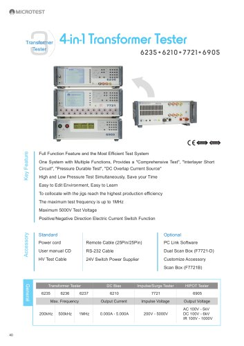 6235+6210+7721+6905 - 4 in 1 Comprehensive Transformer Testing System