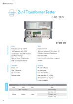 6235+7620 - 2 in 1 Comprehensive Transformer Testing System
