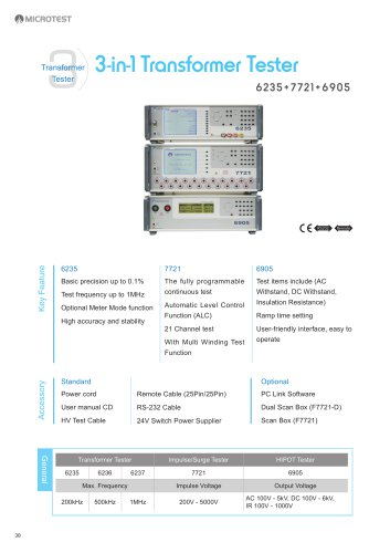 6235+7721+6905 - 3 in 1 Comprehensive Transformer Testing System
