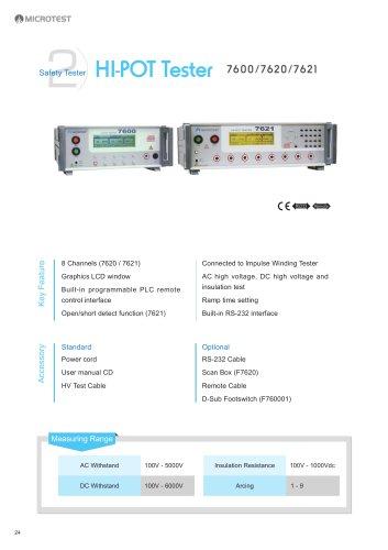 hipot tester_7600/7620/7621