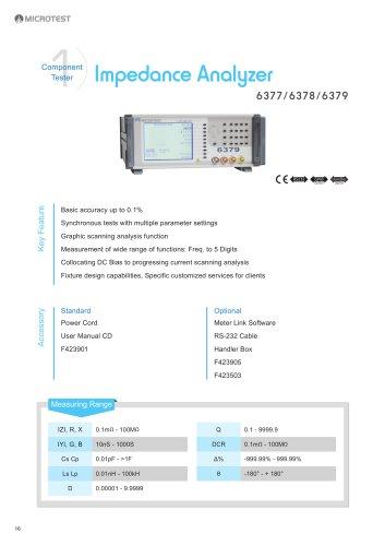 Impedance Analyzer_6377/6378/6379