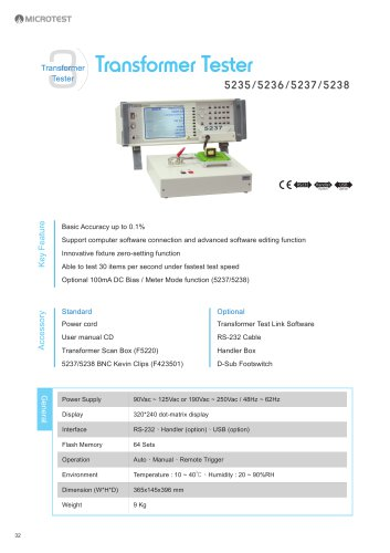 Transformer Tester_5235/5236/5237/5238