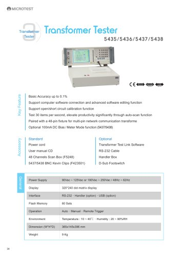 Transformer Tester_5435/5436/5437/5438