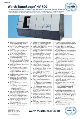 Werth TomoScope'HV 500