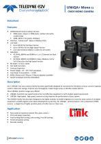 UNiiQA+ mono CameraLink datasheet