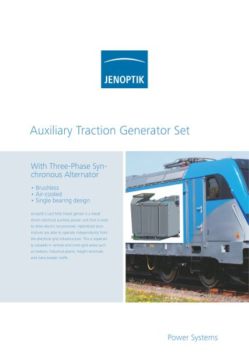 """""""Last Mile"""" Auxiliary Traction Genset"""