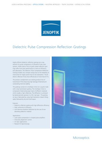 Pulse Compression Reflection Gratings