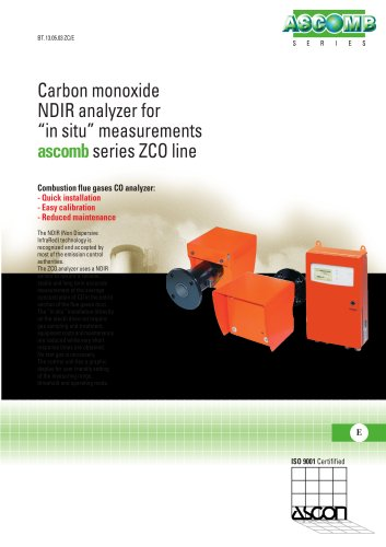 "Carbon monoxide NDIR analyzer for ""in situ' measurements"