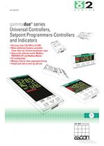 Gammadue Series - Universal Controllers, Programmable Setpoint-Controllers