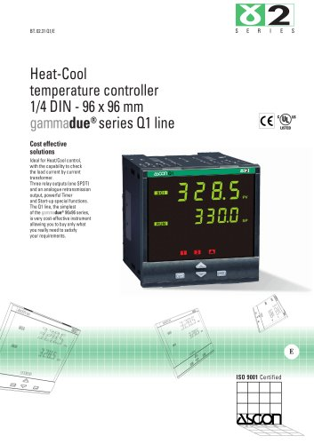 Heat-Cool temperature controller 1/4 DIN - 96 x 96 mm
