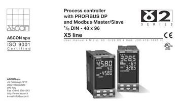Process controller with PROFIBUS DP and Mod bus Master/Slave