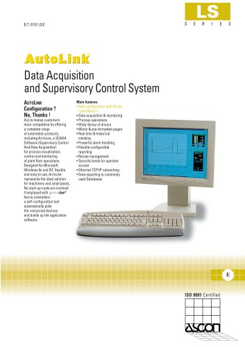 SCADA Supervisory Control And Data Acquisition software