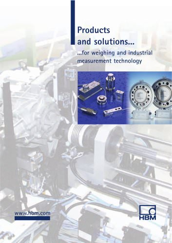 Products and solutions for weighing and industrial measurement technology