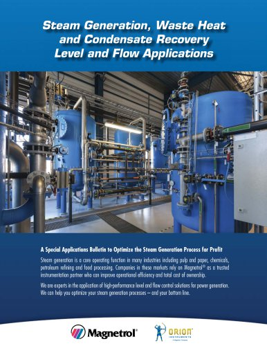 Steam Generation, Waste Heat and Condensate Recovery