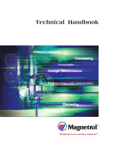 Technical Handbook provides important conversions, chemical properties, equivalents and pipe data.