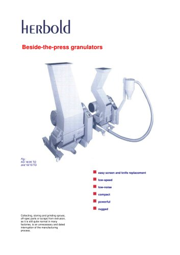 Beside-the-press granulators