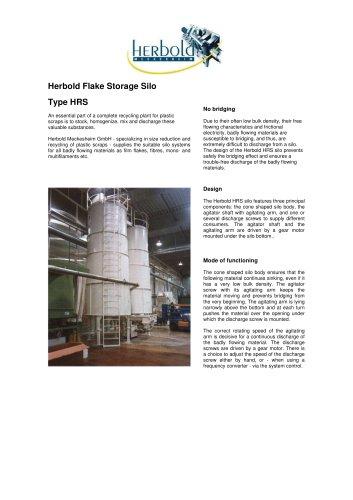 Flake Storage Silo Type HRS