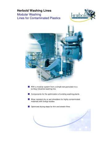 Washing Lines for Contaminated Plastics