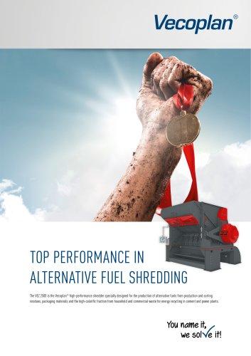 Alternative fuel shredder