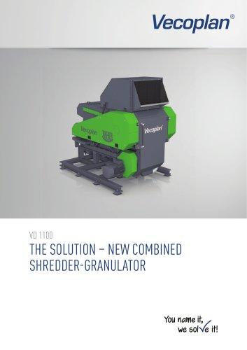 Shredder-granulator combination