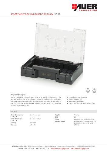 ASSORTMENT BOX UNLOADED 30 X 20 CM SB 32