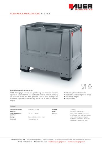 COLLAPSIBLE BIG BOXES SOLID KLG 1208