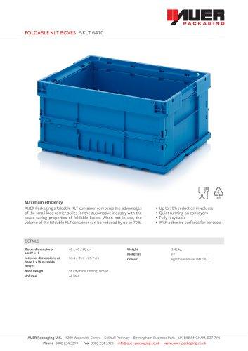 FOLDABLE KLT BOXES F-KLT 6410