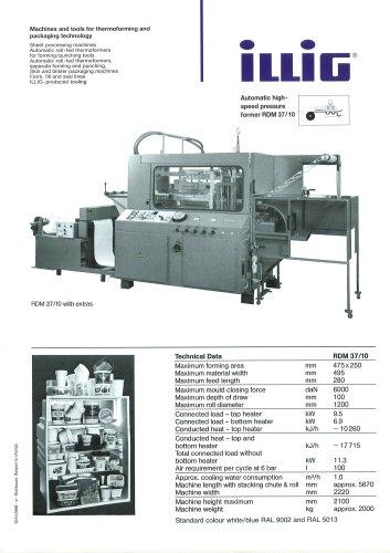 Automatic Pressure Former RDM 37/10