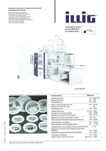 Automatic Pressure Former RDM 58/3