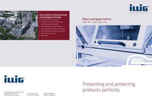 Blister packaging machineHSU 35 - Hot Seal Unit