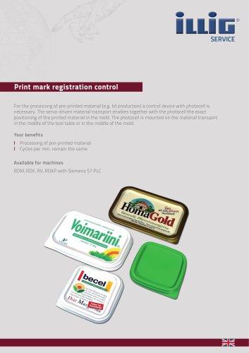 Print mark registration control