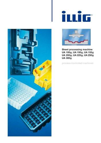 Sheet processing machine UA 100g, UA 150g, UA155g, UA 200g, UA 225g, UA 250g UA 300g