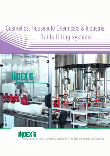 Cosmetics, Household chemicals & Industrial fluids filling systems
