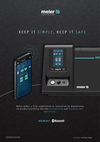 Micron+ piston pump with Bluetooth® Technology