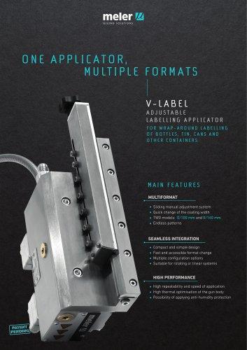 V-Label-Labelling hot melt applicator