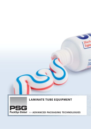 Laminate tube equipment