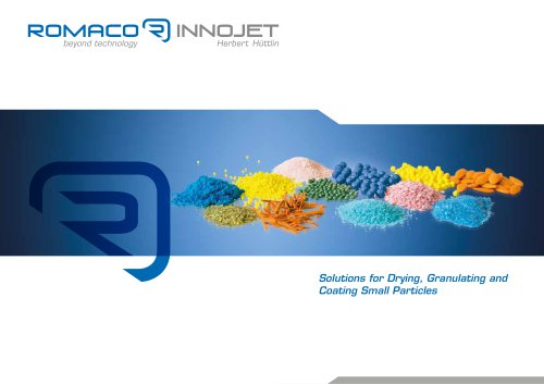 Solutions for Drying, Granulating and Coating Small Particles