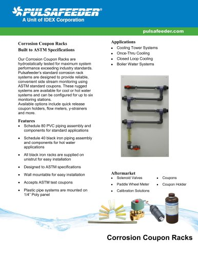 Corrosion Coupon Racks Eco Specifications