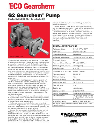 ECO-Gearchem-Series-G2-Specifications
