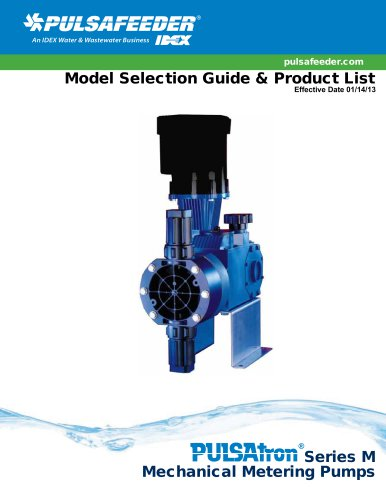 Model Selection Guide & Product List Effective Date 01/14/13