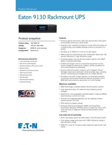 Eaton 9130 Rack UPS