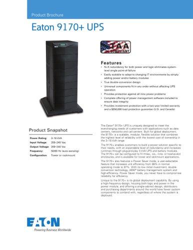 Eaton 9170+ UPS Brochure