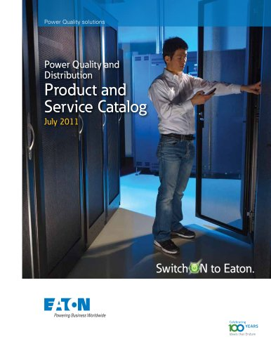 Power Quality and Distribution  Product and  Service Catalog