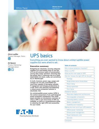 UPS basics