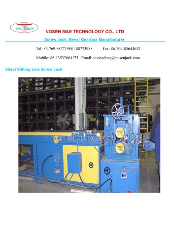 NOSEN Sheet Slitting Line Screw Jack